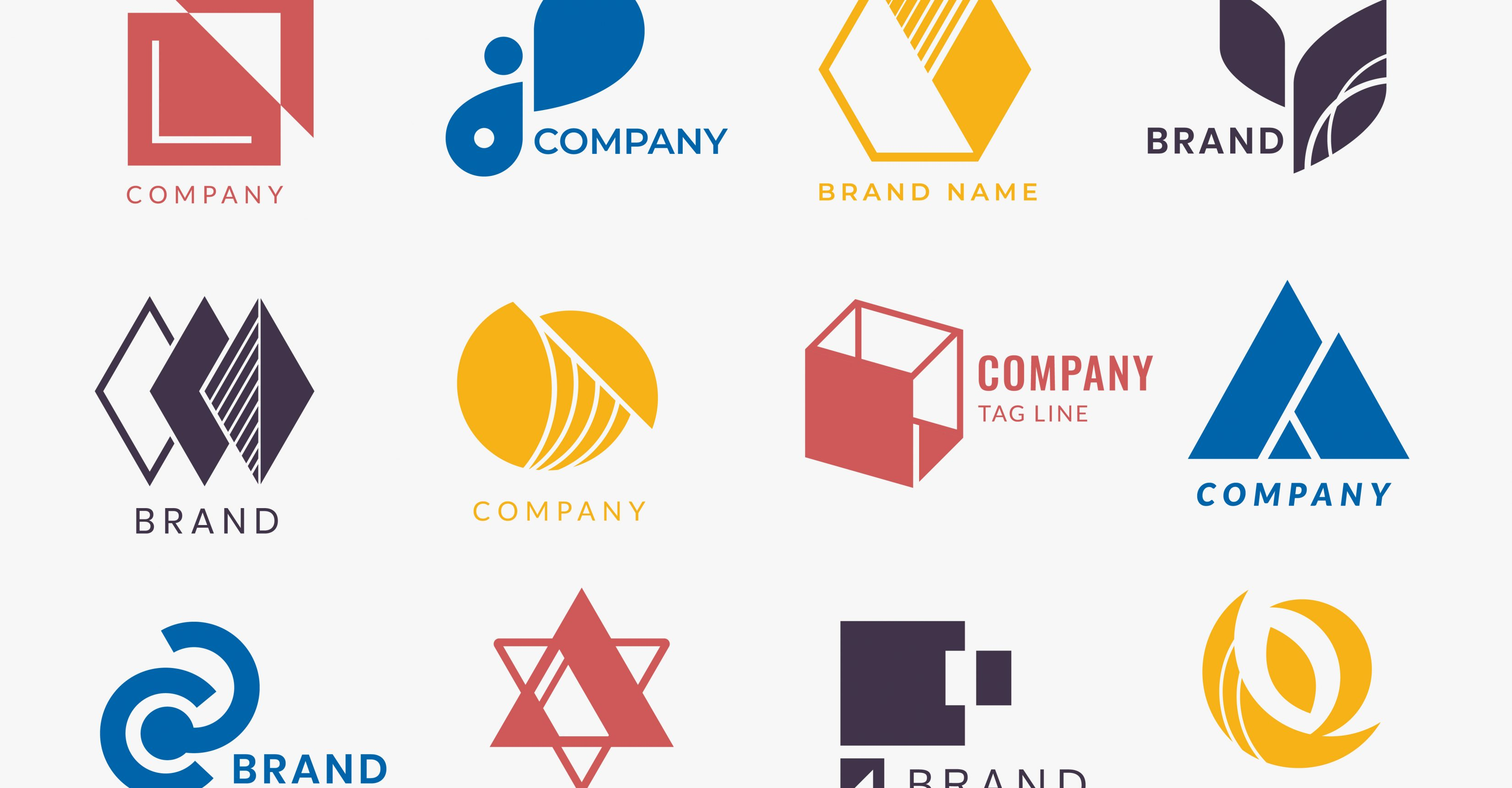 Company branding logo designs vector collection